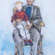 SP309E-Ébauche de la toile «Mon Grand-papa à moi»