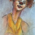 SP414E-Ébauche de la toile «Histoire de clown I»