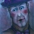 SP417E-Ébauche de la toile «Histoire de clown II»