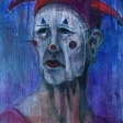 SP419E-Ébauche de la toile «Histoire de clown III»